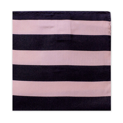 NAVY & PINK STRIPE SQUARE