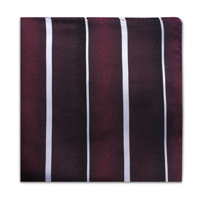 BURGUNDY & WHITE STRIPE SQUARE-0