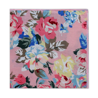 BABY PINK LARGE FLORAL SQUARE
