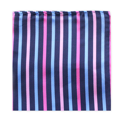 BLUE, PINK & NAVY STRIPE SQUARE-0