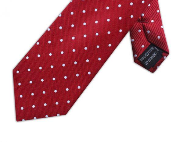 RED & WHITE POLKA DOT TIE-0