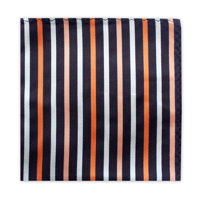 BLACK, ORANGE & WHITE STRIPE SQUARE-0