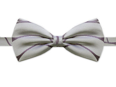WHITE & PURPLE SWIRL BOW TIE-0