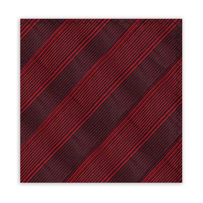 RED & BLACK STRIPE SQUARE