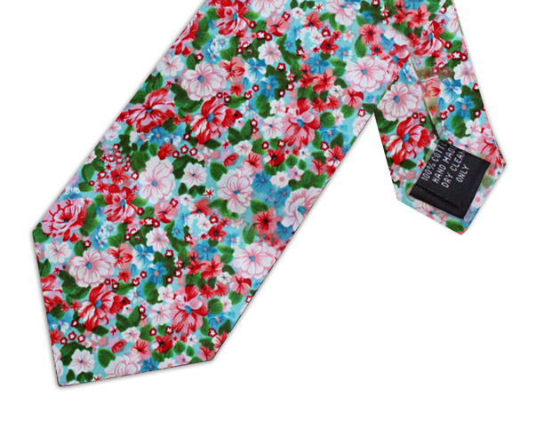WATERCOLOUR FLORAL TIE