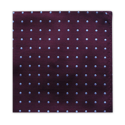 PLUM & GREY POLKA DOT SQUARE-0