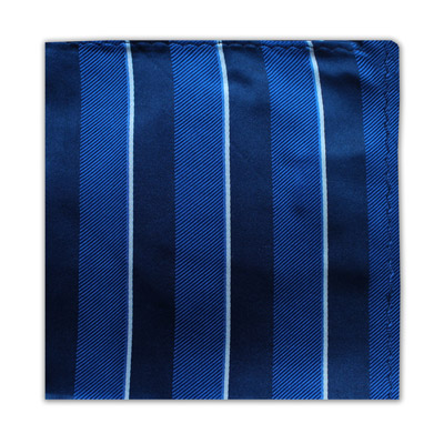 ROYAL BLUE, NAVY & WHITE STRIPE SQUARE