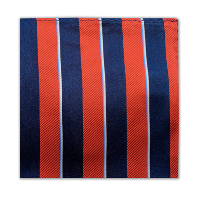 ORANGE, NAVY & WHITE STRIPE SQUARE