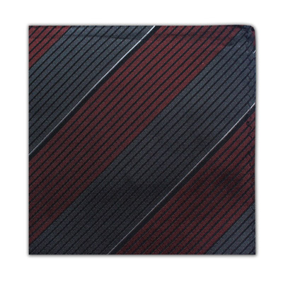 BURGUNDY & SLATE GREY DIAGONAL STRIPE SQUARE-0