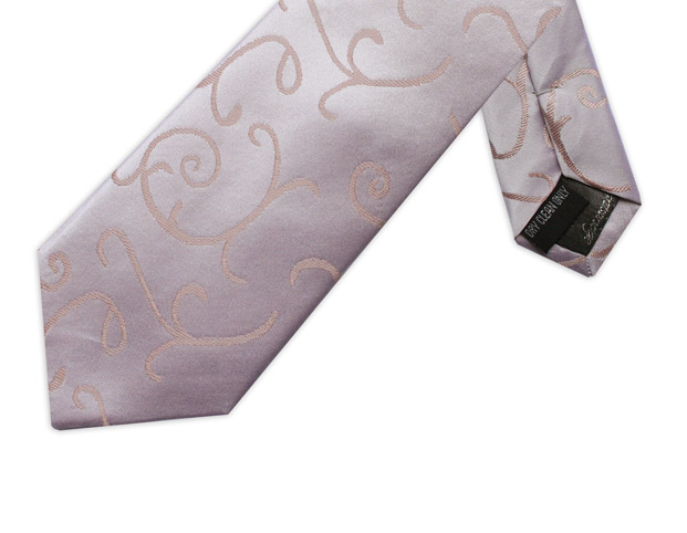 A TOUCH OF PINK SWIRL TIE