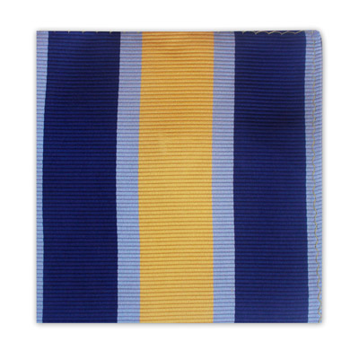 YELLOW & BLUE STRIPE SQUARE-0