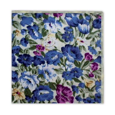 WHITE, BLUE & PURPLE FLORAL SQUARE-0