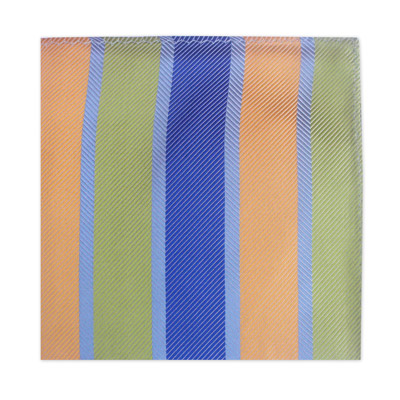 YELLOW, BLUE & GREEN STRIPE SQUARE-0