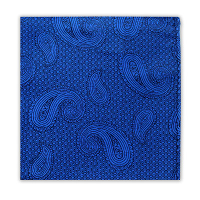 ROYAL BLUE PAISLEY SQUARE-0
