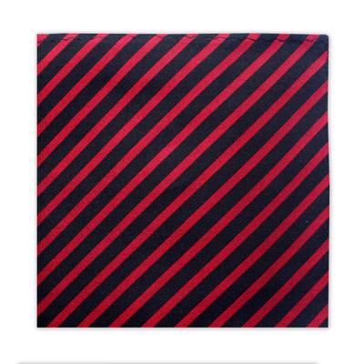 BLACK & RED STRIPE SQUARE-0