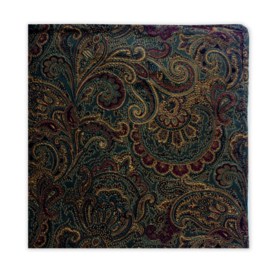 GREEN, BURGUNDY & YELLOW FLORAL SQUARE-0