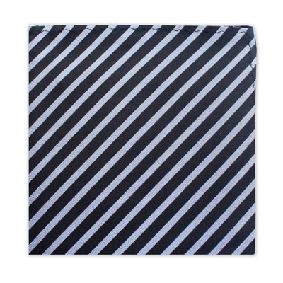 BLACK & SILVER STRIPE SQUARE