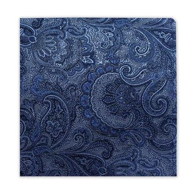 BLUE & SILVER FLORAL SQUARE-0