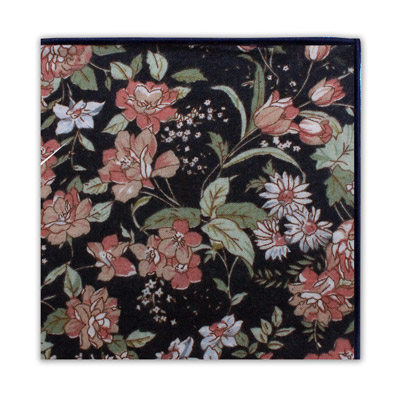 BLACK & PEACH FLORAL SQUARE-0