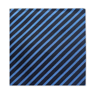BLACK & BLUE STRIPE SQUARE