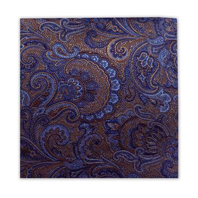 BLUE & BRONZE FLORAL SQUARE