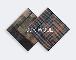 100% Wool Squares