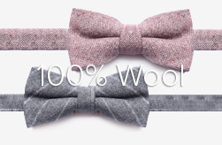 100% Wool Bow Ties